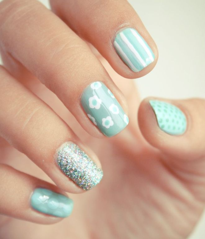 blid manicure på kort negle gel lak 3