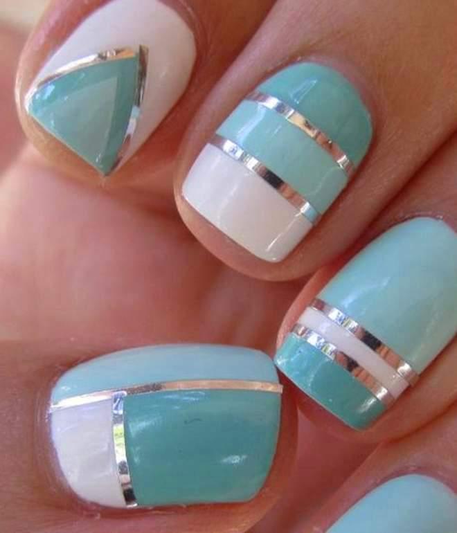 vinter manicure gel lak på korte negle 2