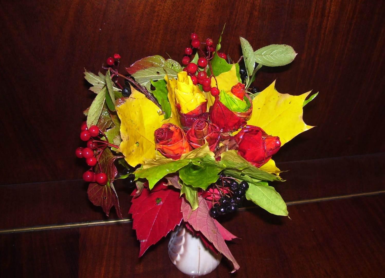 Осенние цветы своими руками для школы фото 486