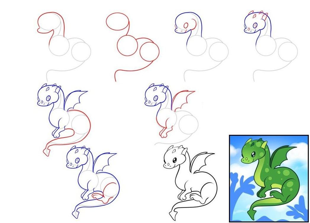 Поздравления днем, как рисовать дракона на открытку
