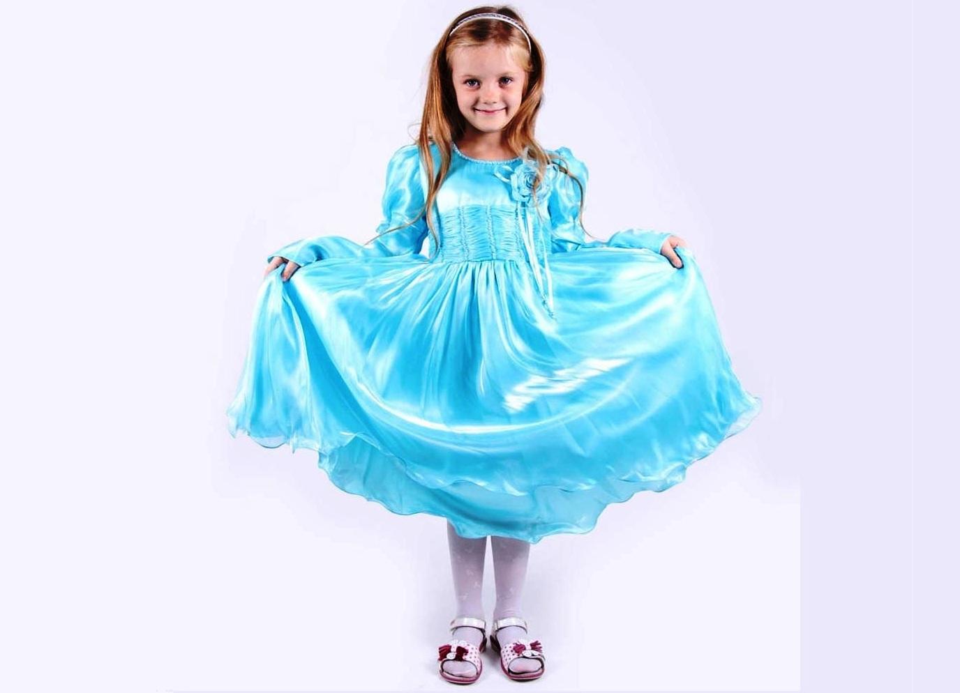 Выкройка платья на девочку из атласа