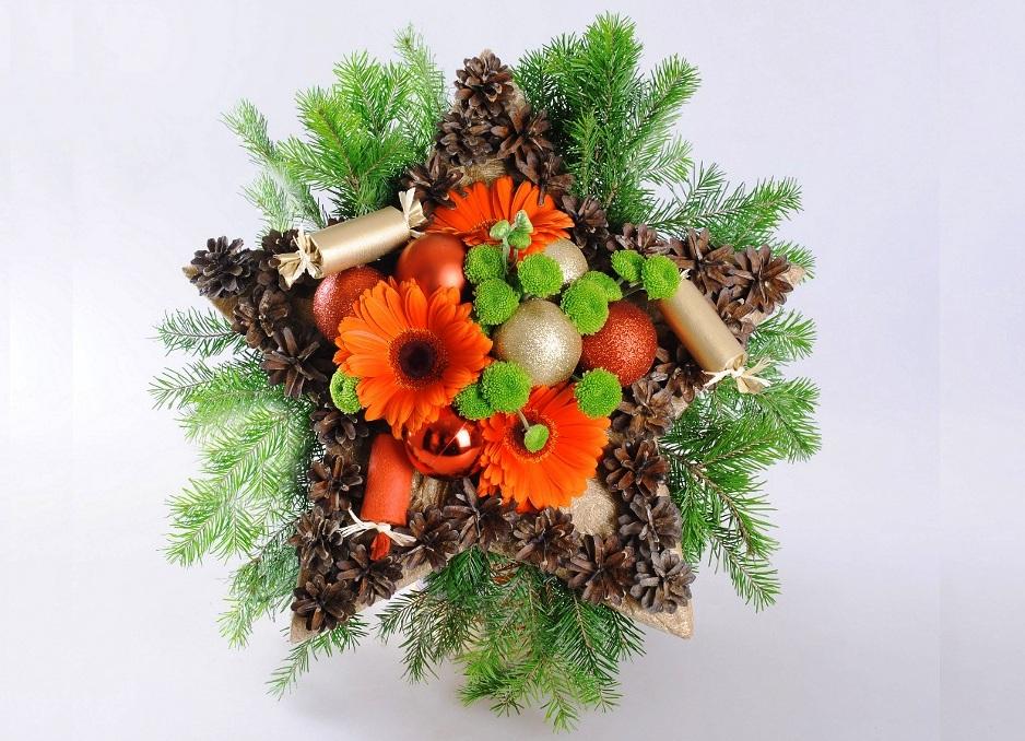Новогодняя флористика поделка в садик