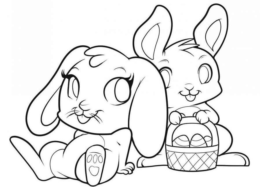 Как рисовать кролика открытка