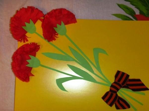Открытка на 9 мая в детском саду младшая группа, днем