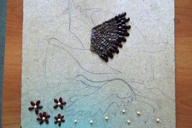 Поделки из круп, семян и зерен кофе 21