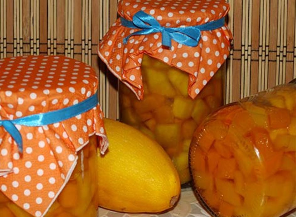 Кабачки с апельсином на зиму как ананас