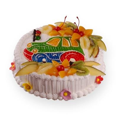 Как украсить детский торт фруктами в домашних условиях 34