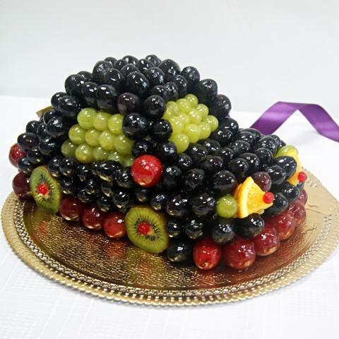Как украсить детский торт фруктами в домашних условиях 6