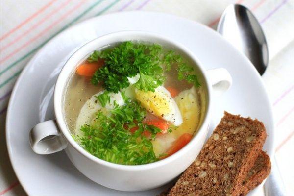 Куриный бульон с яйцом пошаговый фото рецепт — Superfb