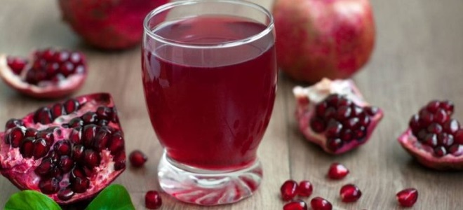гранатовый сок из сиропа
