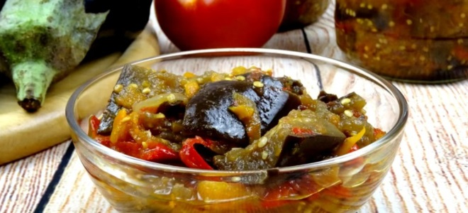 армянская закуска на зиму из баклажанов