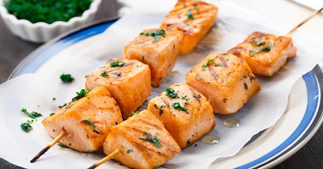 Рыбный шашлык рецепт на мангале 60