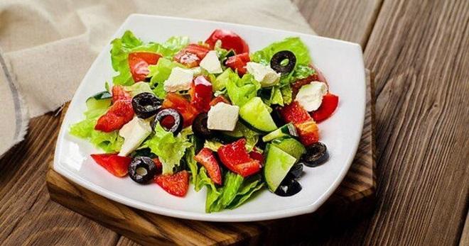 Греческий салат с сыром сиртаки рецепты