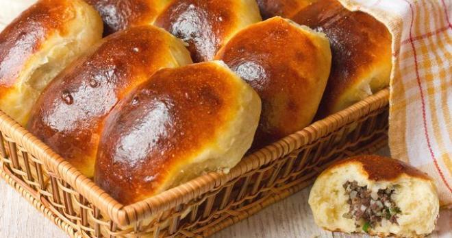 рецепт вкусных пирожков из сухих дрожжей