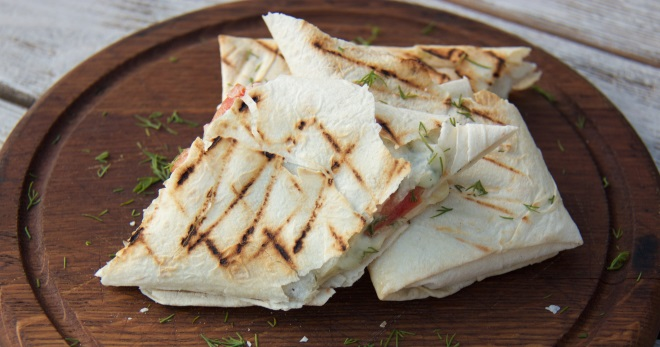 лаваш с сыром и зеленью рецепт с фото