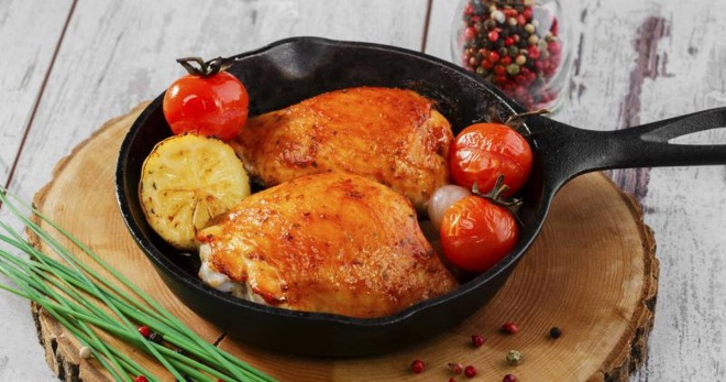 блюда из курицы рецепты на сковороде