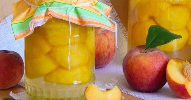 рецепт компот из персиков