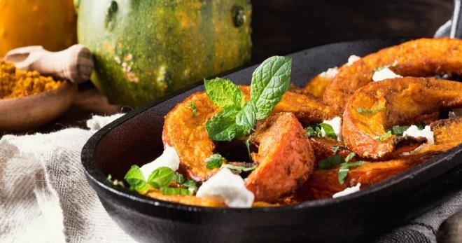 Запеченная тыква - самые лучшие и оригинальные идеи приготовления вкусных блюд