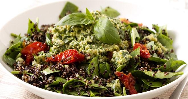 рецепт теплый салат из телятины и вялеными помидорами