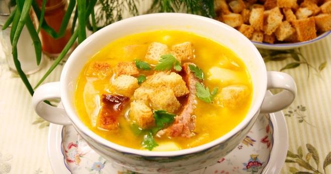 Гороховый суп в мультиварке с копченостями суп пюре