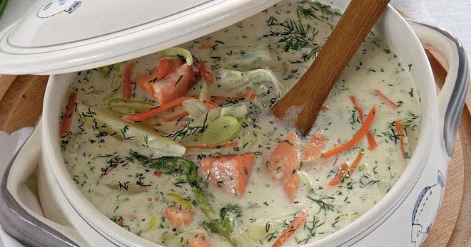 вкусный суп из семги рецепты