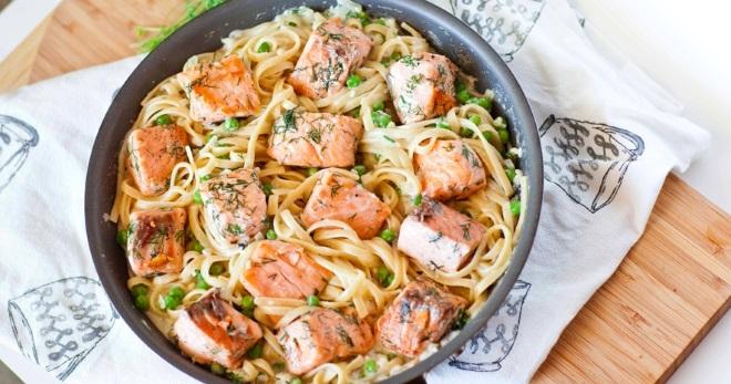 рецепт блюда соус с лососем