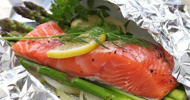 Как запекать стейк лосося в духовке #7