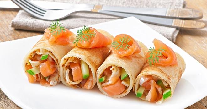 закуски блинные роллы рецепты с фото