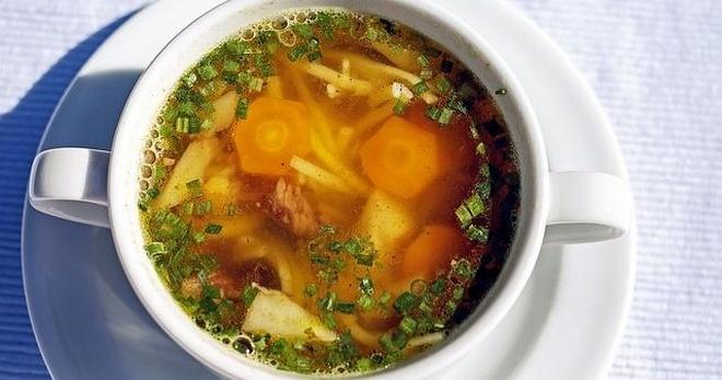 Рецепт супа с перловкой на говяжьем бульоне — 4