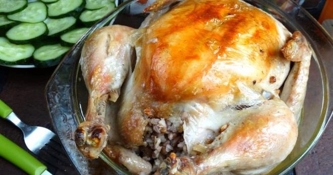 Фаршированная курица гречкой рецепты