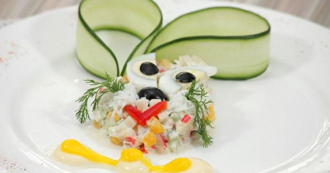 Детские салаты - оригинальные идеи закусок для малышей на каждый день и для праздника