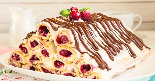 Торт монастырская изба с вишней - лучшие рецепты <br /> <br /> десерта из разного теста и с сочной начинкой