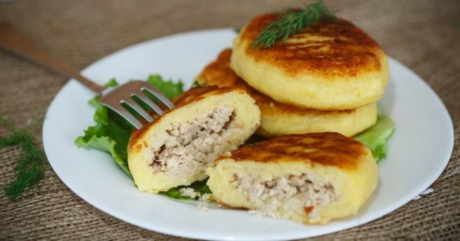 Зразы картофельные с мясным фаршем рецепт