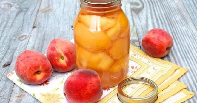 Компот из персиков на зиму - простой рецепт вкусного и полезного напитка