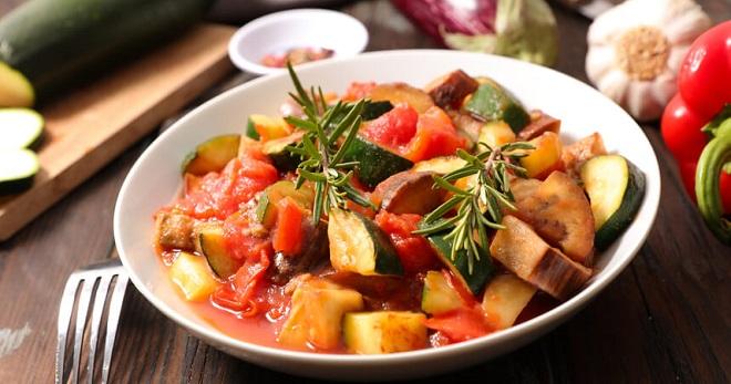 Рагу с кабачком и базиликом 3