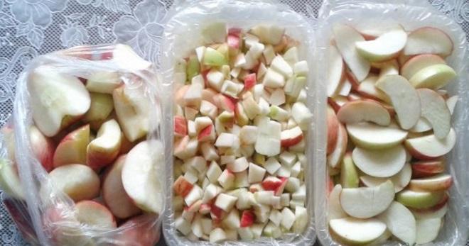 Заморозка яблок на зиму для пирогов