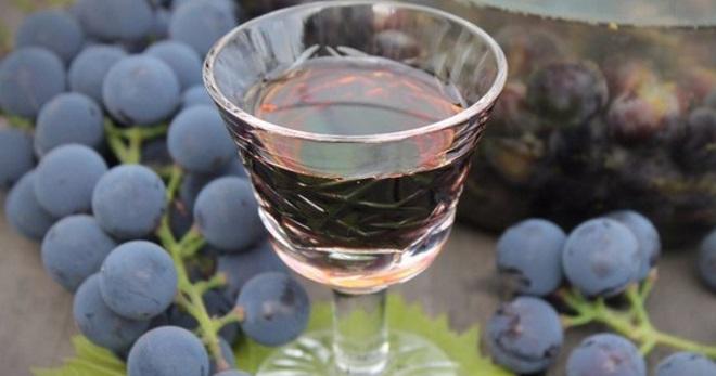 Настойка из замороженного винограда