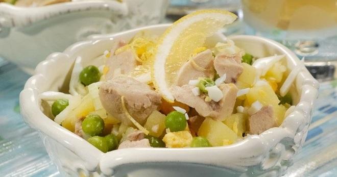 Салат из консервированной печени трески - лучшие рецепты праздничных закусок