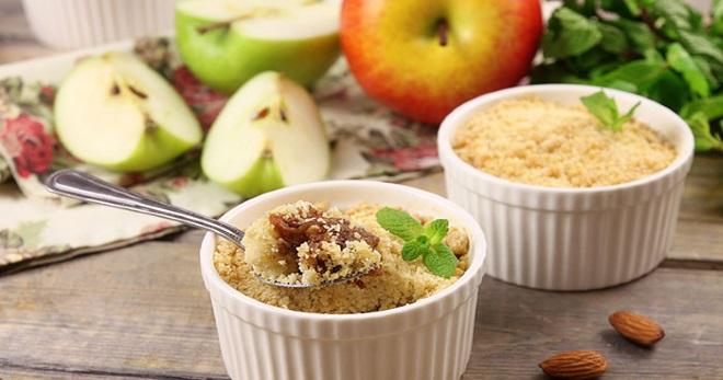 Яблочный крамбл – вкуснейший английский десерт по лучшим рецептам