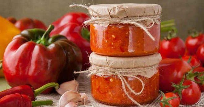 Огонек из помидор на зиму, лучшие рецепты, с чесноком и перцем