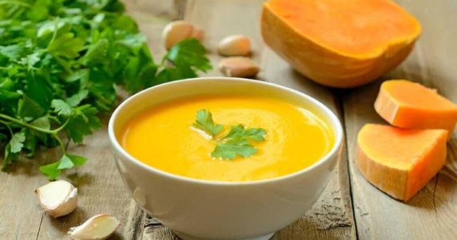 Суп из тыквы со сливками - очень вкусное, сытное и ароматное блюдо