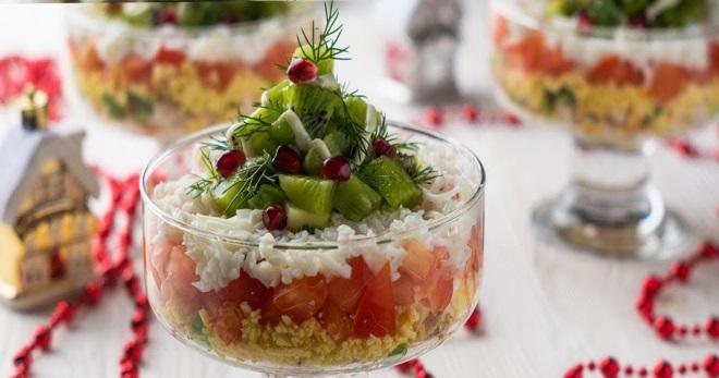 Салат-коктейль - красивое блюдо для праздничного стола
