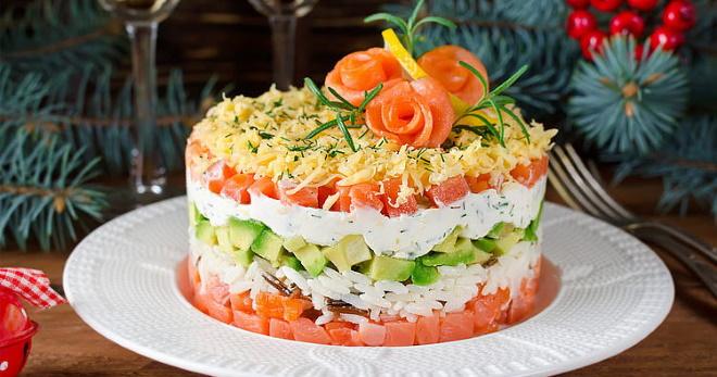 Самые вкусные салаты для домашнего и банкетного меню