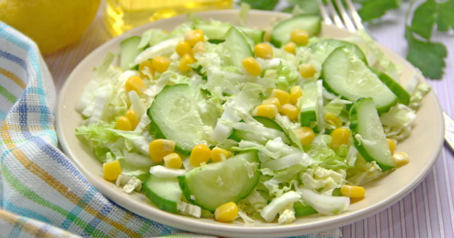 Салат из пекинской капусты с огурцом - лучшие рецепты витаминной закуски