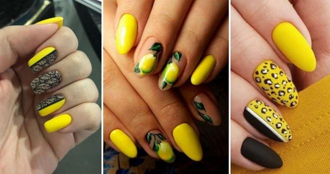 Желтый маникюр с дизайном - стильно, модно, ярко!