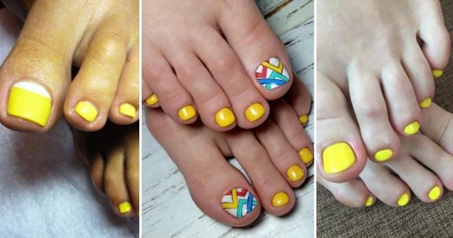 Желтый педикюр - яркие ногти для стильных девушек!