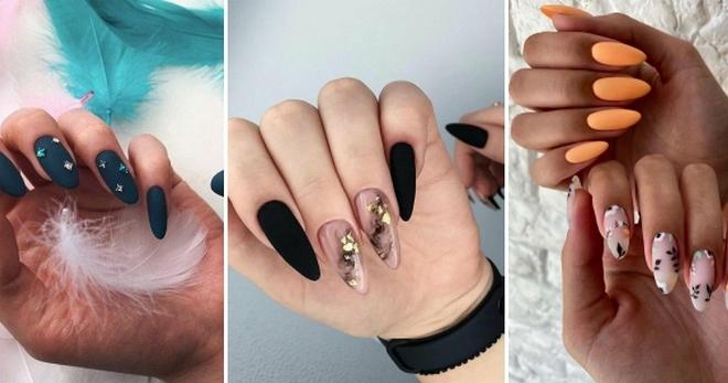 Маникюр миндаль - модные тенденции 2021 для коротких и длинных ногтей с дизайном