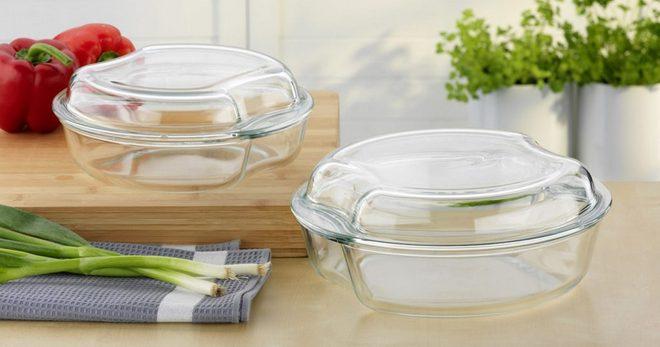 Стеклянная посуда для приготовления еды и сервировки стола