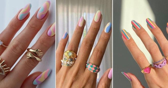 Летний маникюр 2021 - яркие стильные дизайны для любой формы ногтей