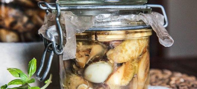 грибы в масле на зиму